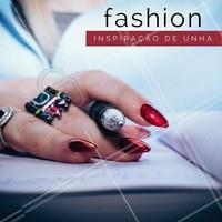O vermelho é sexy e poderoso. E aí, vai apostar na tendência? #Unha #Nails #Inspiração #Ahazou