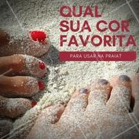 Deixe aqui nos comentários! #Praia #Unha #Nails #Ahazou