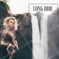 Quem tem o cabelo cacheado/ondulado não precisa ter medo! O Long Bob é para todo mundo!