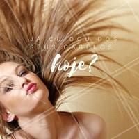 Terça-feira é dia de deixar os fios deslumbrantes! Agende o seu horário! #Ahazou #Cabelo #Hair