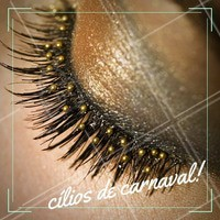 Brilho nos cílios? Pode sim, pode muito! #Carnaval #Ahazou #Festa #Carnaval2017 #Makeup