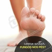 Anote: seque bem os pés, principalmente entre os dedos, podendo ser inclusive com secador de cabelos, com temperatura gelada ou morna, para evitar a proliferação de fungos. #Dica #Pés #Feet #Cuidados #Ahazou