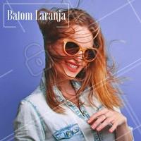 Batom laranja fica perfeito no verão! #makeup #ahazou