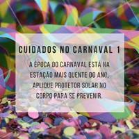 Não esqueça do protetor! #ahazou #estética #carnaval #pele #saúde #bemestar #beauty
