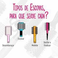 Entenda para que serve cada tipo de escova de cabelo #cabelos #dicasdecabelos #escova #salãodebeleza #cabeleireiro