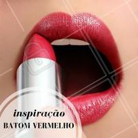 O clássico batom vermelho cai bem em looks de diversas ocasiões! #Maquiagem #Make #Inspiração #Ahazou