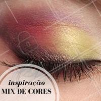 Mesclar cores de sombras é ideal para quem quer um look mais despojado! #Maquiagem #Make #Inspiração #Ahazou