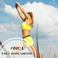 O alongamento antes da musculação ou dos exercícios aeróbicos é recomendado como forma de preparar o corpo para movimentos mais amplos e também funciona como aquecimento. #Alongamento #Dica #Saúde #Fitness #Ahazou