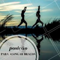 Posição clássica para um bom alongamento! #Alongamento #Dica #Saúde #Fitness #Ahazou