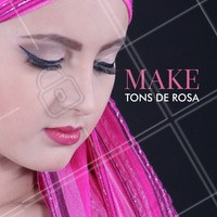 Make rosa inspiração perfeita para a formatura! #maquiagem #inspiração #ahazou #formatura #tonsderosa