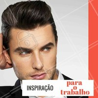 Dica de penteado para usar no trabalho. Prático e rápido! #Cabelo #CabeloMasculino #Hair #Ahazou