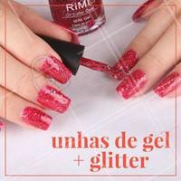 Apostar no glitter é uma tendência para as amantes de #UnhasDeGel! Se joga! #Unha #Nails #Manicure #Ahazou