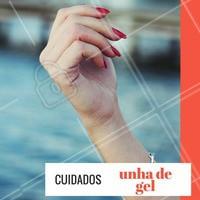 Não use líxivias, águas muito quentes, acetonas e produtos com álcool pois pode haver o risco das unhas descolarem! #UnhasDeGel #Unha #Nails #Manicure #Ahazou