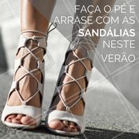 Use e abuse das sandálias neste verão com os pés macios depois de fazê-los! #Pedicure #Sandália #Verão