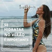 Nesse calor todo é importante se manter hidratada, por isso não se esqueçam de tomar bastante água durante o dia! #Água #Calor #Hidratação