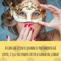 Porque é importante estar belíssima no carnaval! #ahazou #carnaval #estéticaecarnaval #estéticacomamor #beleza