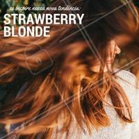 O Strawberry Blonde é este tom acobreado que vem bombando nestes últimos tempos, que tal mudar o visual e apostar na tendência? #Inspiração #Cabelo #Strawberryblonde