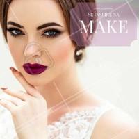 Uma maquiagem puro glamour para te inspirar neste fim de semana! #Inspiração #Maquiagem