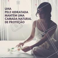Mantenha a pele sempre hidratada para que haja a proteção contra impurezas! #estéticaecomamor #ahazou #beauty #pelemadura #estéticaesaúde #saúde #bemestar