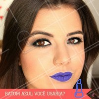 Para aquelas mais ousadas! #Maquiagem #BatomAzul #Batom #Azul #Colorido