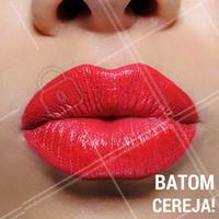 Que tal apostar na cor cereja? Delicado e ultrafeminino, é opção perfeita para usar no dia a dia. #Batom #Lipstick #Ahazou #Maquiagem #Beleza