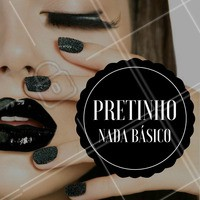 Para quem gosta de unhas trabalhadas, que tal arrasar por aí com um pretinho nada básico? #Preto #Unhas #Ahazou