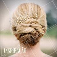 Para as noivas mais modernas: inspire-se neste penteado! Muito lindo, né? #Penteado #Hair #Cabelo #Noivas #Casamento #Inspiração
