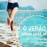 O verão continua firme e forte, então não se esqueçam a importância do protetor solar para manter sua pele saudável e livre dos danos causados pelos raios solares! #Sol #Protetorsolar #Verão #Cuidados