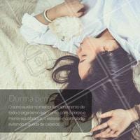#DicasCabelo 3 - Dormir bem fortalece os fios de cabelo #SalãodeBeleza #CabeloSaudável #Beleza