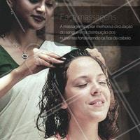 #DicasCabelo 5 - Você sabia que a massagem capilar tinha esses benefícios? #SalãoDeBeleza #CabeloSaudável #Beleza
