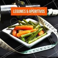 Coma legumes e verduras de aperitivo enquanto você cozinha, eles vão aumentar a saciedade. #emagrecer #ahazou #dieta #beleza #bemestar