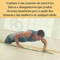 Que tal começar #pilates hoje? #Pilates #Saúde #BemEstar #Exercícios