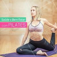 Comece já! O Pilates traz muitos benefícios para o seu corpo! #Pilates #AmoPilates #Ahazou #Saude #BemEstar