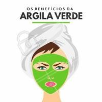 É ideal para peles mistas e oleosas, pois suga toxinas e trata as acnes causadas pela oleosidade nos poros. #Argila #ArgilaVerde #MáscaraFacial #Beleza #PeleHidratada #EstéticaFacial #Ahazou