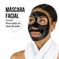 Todos os tipos de pele são bem-vindo à se embelezar ainda mais com as máscaras faciais! Agende já o seu horário! #MáscaraFacial #Beleza #PeleHidratada #EstéticaFacial #Ahazou