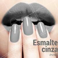 Quem também ama? #Cinza #EsmalteCinza #NailArt #InspiraçãoUnha #Unha #Esmalteria