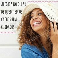 E que alegria! #cabelo #cachos #cacheadas #beleza #beauty #ahazou