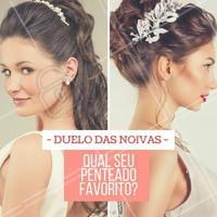 Deixe aqui nos comentários! #Cabelo #Hair #Noivas #Penteado