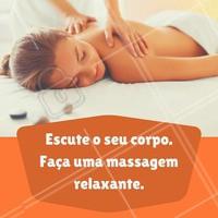 Aproveite o dia para fazer uma massagem relaxante, é bom se livrar dos estresse da vida! Procure seu profissional.
