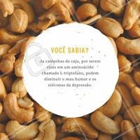 Acrescente castanha de caju em sua dieta para melhorar a saúde física e mental. #Saúde #Castanhadecaju #Humor
