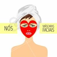 As máscaras faciais garantem uma ação mais profunda e prolongada de seus benefícios, por ficarem em contato direto com a pele e terem uma concentração mais alta de ativos. Tem como não amar as máscaras faciais? #Máscarafacial #Amo #Cuidados #Ahazou #Beleza #Autoestima