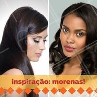 Ainda na dúvida sobre o seu novo visual? Inspire-se agora! #Inspiração #Morenas #CabeloEscuro #Hair #Cabelo #AmoCabelos #Ahazou