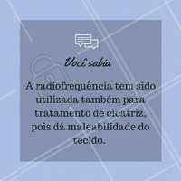 Você sabia?  #ahazou #corpo #radiofrequencia
