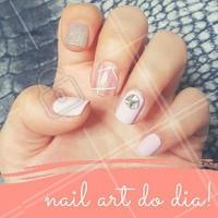 Que tal decorar as unhas assim para esta semana? #NailArt #Unha #UnhasDecoradas #Nails #AmoEsmalte #Esmalteria #Ahazou