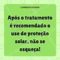 Não deixe de usar a proteção solar!  #ahazou #beauty #carboxiterapia