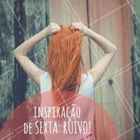 Ruivos sim, ruivos sempre! #Cabelo #Hair #SextaFeira #Friday #AmoCabelo #Ahazou