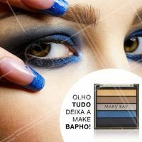 Deixe seu olhar fatal e sua make icônica dando um toque de cor! #Azul #Make #Bapho #MaryKay #AhazouMaryKay #beleza #Autoestima