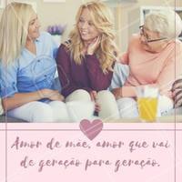 O sentimento de mãe é algo genuíno, vai de geração para geração, ampliando o real significado de amor. <3  #diadasmães #ahazou #estética #motivacional