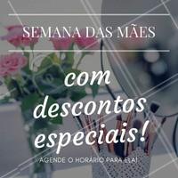 Neste especial para mães, dê um dia de auto estima para ela! Ligue agora. #Mães #MãesDivas #DiaDeBeleza #DiaDaMães