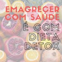 A dieta do detox contribuí para a eliminação desses excessos que se acumulam ao longo do dieta de detox funcionatempo e que impedem o organismo de funcionar corretamente. #Dieta #Detox #Saúde #Alimentação #Fitness